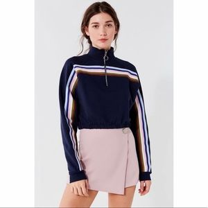 Urban Outfitters // Half Zip Stripe Pullover🌛